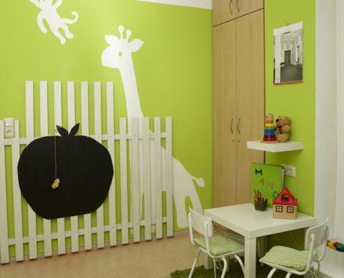 Wartezimmer Kinderecke Ergotherapie am Rothermundt