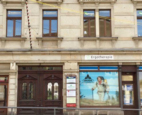 Außenansicht Praxis Altstadt Pirna, Königsteiner Str.